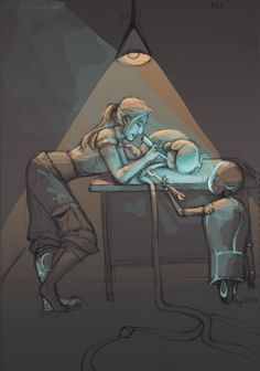 Cinder and Iko by may12324.deviantart.com on @deviantART