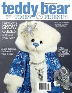 Snow Queen - about 19 inches - Dense German Alpaca. #artistbear #artistbears #teddybear #christmas #vickylougher Teddybear, Snow Queen, New Artists, Bears, German, Stitch, Pattern, Christmas, Handmade