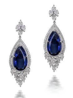 Varuna D Jani tanzanite drop earrings. (jm)