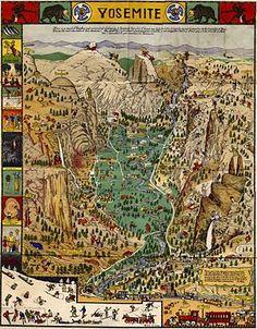 "Yosemite Map by Joseph Jacinto ""Jo"" Mora (1876–1947)"