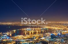 Cape Town at night Royalty Free Stock Photo