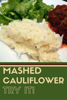 Mashed Cauliflower is a quick and healthy recipe for a vegetable side dish.