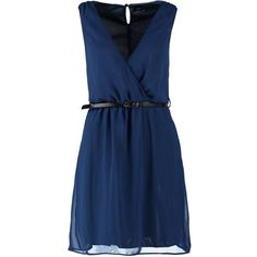 New Look Dress navy (64 RON) ❤ liked on Polyvore featuring dark blue