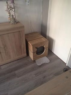 undefined Diy Cat Tower, Raising Kittens, Cat Litter Tray, Litter Box Covers, Animal Gato, Living With Cats, Foster Cat, Puppies And Kitties, Cat Room