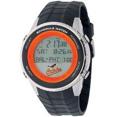 Baltimore Orioles Mens Schedule Wrist Watch