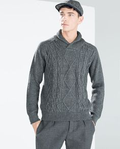 0fac0440 8 Best Zara images in 2017 | Men, Cable knit sweaters, Knit stitches