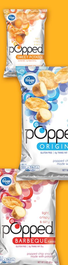 Popped Chips - Packaging designed by Design Resource Center http://www.drcchicago.com/