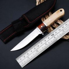 Tactical Straight Pocket Hunting Survival Fixed Blade Knife EDC Wit – NB Knives Damascus Sword, Damascus Steel, Dagger Knife, Fixed Blade Knife, Folding Knives, Hand Tools, Hunting, Survival, Edc