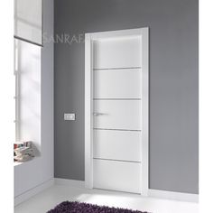 Click para cerrar la imagen, click y arrastrar para mover. Usa las flechas del teclado para avanzar o retroceder. Home Door Design, Bedroom Door Design, Wooden Door Design, Main Door Design, Bedroom Doors, White Interior Doors, Interior Door Styles, Door Design Interior, Home Office Layouts