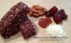 Almond Joy Fruit and Nut Bars  #PeaceLoveandLowCarb
