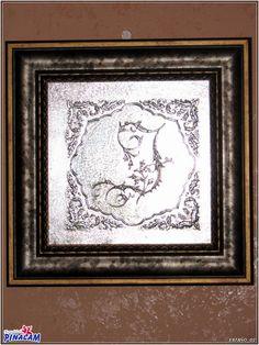 Cuadro repujado en estaño. #manualidades #pinacam #estaño #aluminio                                  www.manualidadespinacam.com