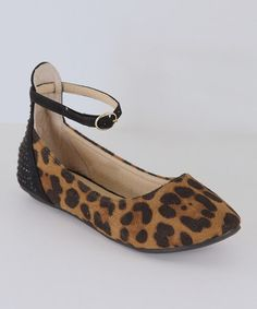 Another great find on #zulily! Leopard Ankle Strap Flat #zulilyfinds