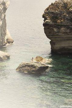 cliffs in bonifacio | via: garance doré