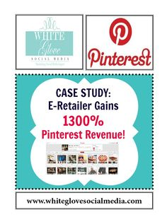Here's a great case study of an online retail business having huge sucess with their #Pinterest marketing! Amazing stats included! www.whiteglovesocialmedia.com
