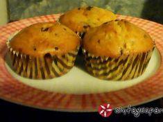 Βίγκαν μάφιν μπανάνα σοκολάτα Muffin, Breakfast, Food, Morning Coffee, Essen, Muffins, Meals, Cupcakes, Yemek