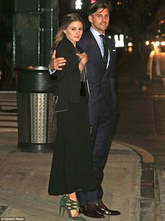 Who said romance is dead? Olivia Palermo and her model boyfriend Johannes Huebel looked more in love than ever as they headed off on a roman...