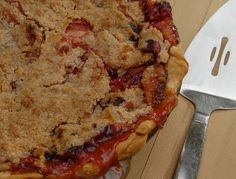 Cranberry and Apple Pie with a Crumb Topping