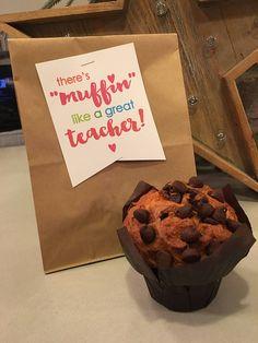 Teacher/co-worker gifts teacher appreciation thank you note