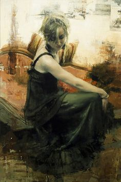 Portrait of the Artist, L.K., por Jeremy Mann