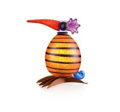 Fat Gonzo Amber Striped Lamp 24-30-15 Pawel Borowski Glass Sculpture