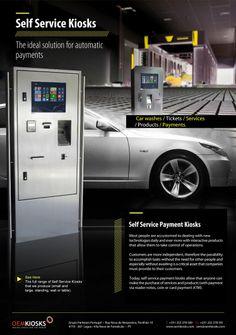 Payment SelfService kiosks from Partteam / Oemkiosks (see more at www.oemkiosks.com) Digital Kiosk, Digital Signage, Kiosk Design, Self Service, Commercial Furniture, Vending Machine, Car Wash, Multimedia, Locker Storage