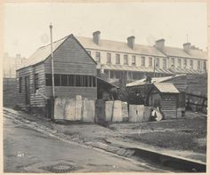 No 1 Comber Street, Paddington, looking to Oxford Street. Row of terraces could be Little Comber Street. Library of NSW Search - Manuscripts, Oral History, and Pictures Catalogue - State Library of New South Wales