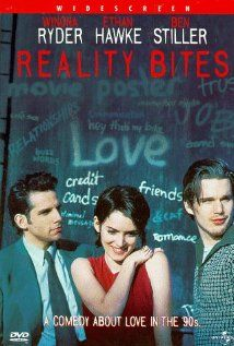 Ethan Hawke, Winona Ryder, and Ben Stiller in Reality Bites Winona Ryder, 90s Movies, Great Movies, Movies To Watch, Famous Movies, Drama Movies, Best Romantic Comedies, Romantic Comedy Movies, See Movie
