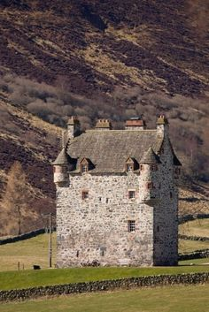 Forter Castle, on the Cateran Trail in Scotland.