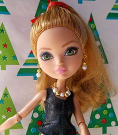 Monster High Doll Gold Bead White Pearl by CuteWeirdFluffy on Etsy