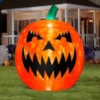 Gemmy 93.70 in. W x 93.70 in. D x 114.17 in. H Inflatable Kaleidoscope-Scary Pumpkin-Giant (RRY) 56869 at The Home Depot - Mobile