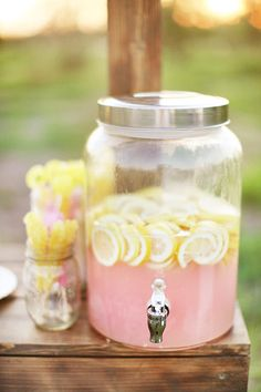 Bright and delicious pink lemonade for a summer wedding.