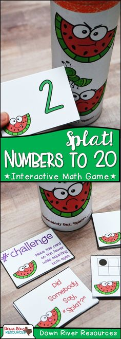 Numbers up to 20 Math Center | Practice Numbers to 20 | Kindergarten Math Centers for Recognizing Numbers to 20 | End of the Year Math Fun