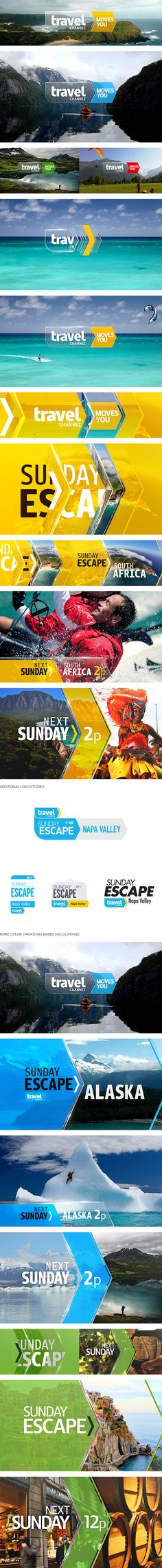 Travel channel sunday escape behance net gallery 18791401 travel channel sunday escape 6 new shows coming to travel channel this year Motion Design, Channel Branding, Branding Design, Logo Design, Bussiness Card, E-mail Marketing, Travel Channel, Travel Design, Media Design