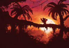 Donkey Kong Country Returns illustration artwork by Orioto on various Redbubble prints #DonkeyKong #DonkeyKongCountryReturns #DKCR #videogames #gaming #fanart #videogameart #redbubble #illustration #prints #orioto