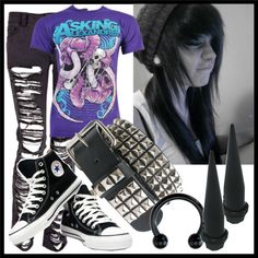 """Emo-Scene 3"" by supermuffinslayer ❤ liked on Polyvore"
