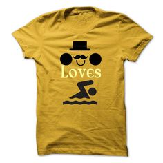 This guy loves Swimming T-Shirts, Hoodies. Check Price Now ==►…