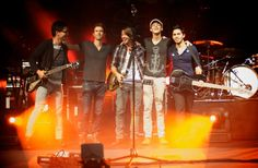 Tenth Avenue North. (From left to right: Jeff, Brendon, Mike, Jason, and Ruben)