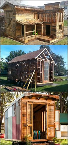 Are John And Zack From Tiny House Nation A Couple-How Much Would A Shipping Container House Cost Pallet Shed, Pallet House, Pallet Barn, Pallet Building, Building A Shed, Pallet Crafts, Pallet Projects, One Pallet Ideas, Building A Container Home