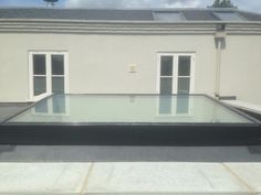 Large glass rooflight installed on a flat roof.