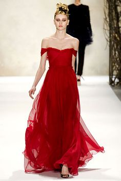 Monique Lhuillier red gown