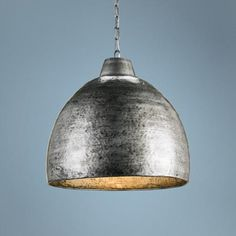"Earthshine Wrought Iron Dome 22"" Wide Pendant Light - #2H988 