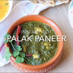 Palak Paneer, a popular dish from North India, made with spinach and cottage cheese, cooked with ginger, garlic, onions and aromatic spices. Takes just 20 minutes to prepare this nutritious vegetarian glutenfree low-carb dish | #palakpaneer #palak #paneer #punjabi #indian #instantpot #pressurecooker | pipingpotcurry.com