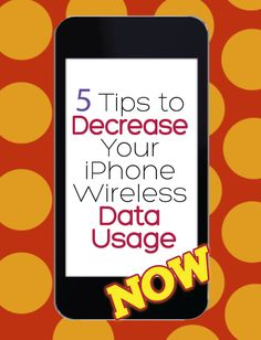 "Because I am one of those people with grandfathered ""unlimited"" plans who's phone becomes a brick after I reached a few months ago and it's strangely been higher ever since. 5 Tips to Decrease Your iPhone Wireless Data Usage. Iphone Secrets, Iphone Hacks, Iphone 6, New Ios, Apple Products, Things To Know, 6s Plus, Good To Know, Computer Science"
