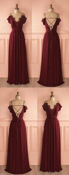 Charming off shoulder burgundy A-line long prom dress 51789 #RosyProm #fashionpromdress #charmingpromgown #longpartydress #simpleeveningdress #promdress #burgundypromgown