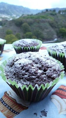 Miss dulce: Muffins de chocolate con chocolate!!