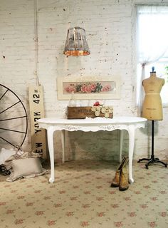 Painted Cottage Chic Shabby White Romantic by paintedcottages, $395.00