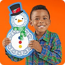 Lacey Snowman Children's Craft (includes templates) and More