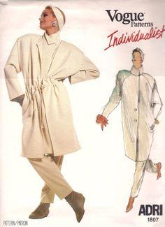 Vogue dated 1986 Vintage Sewing Patterns, Sewing Ideas, Vogue Patterns, Vintage Denim, Vest Jacket, Kendall Jenner, Casual Chic, 1980s, Design