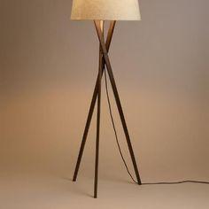 Walnut Wood Tripod Austin Floor Lamp Base - http://centophobe.com/walnut-wood-tripod-austin-floor-lamp-base/ -