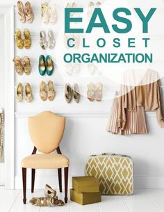 Easy Closet Organization Tips to Help You Hate Your Closet Less | Martha Stewart Living - Gone are the days when Narnia was on the other side of your closet door. Now, your closet is just a wasteland of dirty laundry and half-wrinkled blouses with a mountain range of shoes. We think it's time to give your closet a new reputation -- no longer as a haven for hiding your mess, but as an organized system that works fluidly with your life. Here are some solutions that will work for any closet.